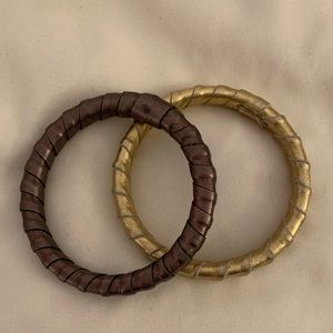 Jewelry - Leather Bangles- NWOT